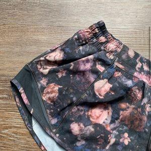 lululemon athletica Shorts - Lululemon Floral Hotty Hot Shorts